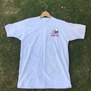 Other - Rare Vintage Tee Navy Construction Battalion 303